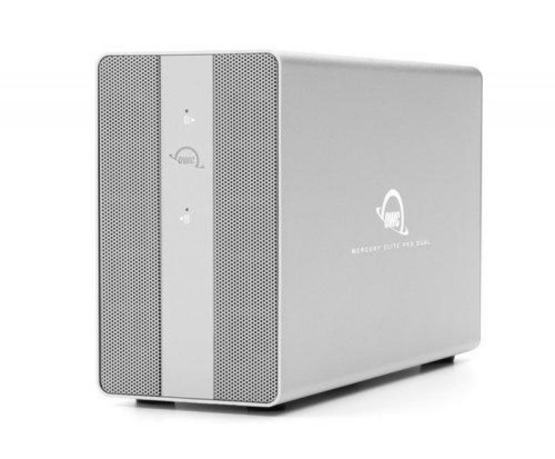 24TB OWC Mercury Elite Pro Dual RAID Storage Solution with USB (10Gb/s) + 3-Port Hub
