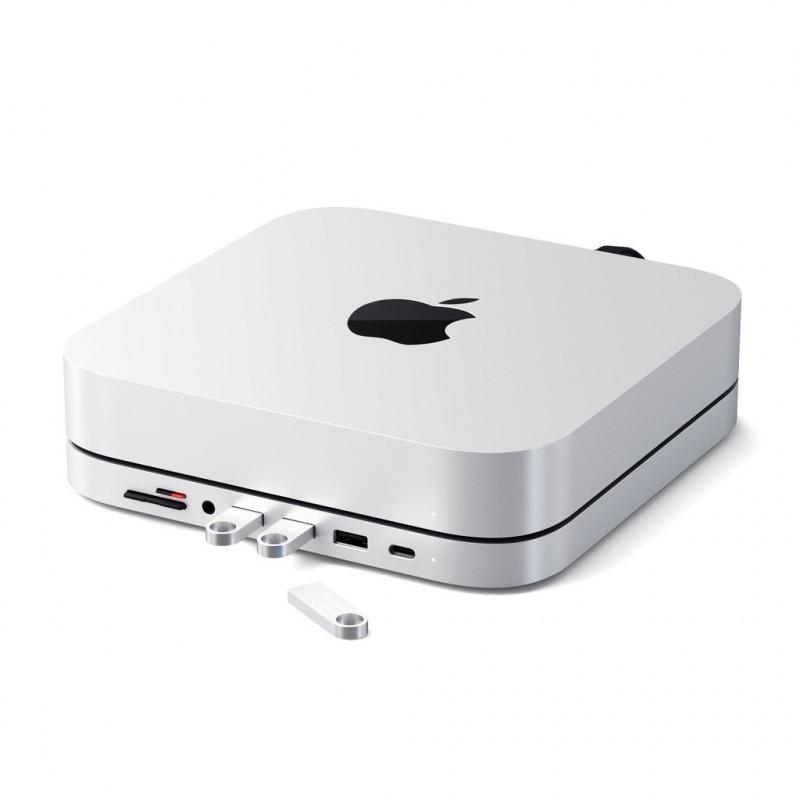 Satechi - Type-C Aluminum Stand & Hub for Mac Mini (silver)